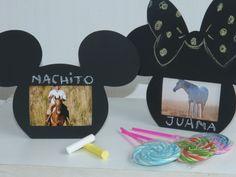 Portarretrato pizarron de Mickey y Minnie