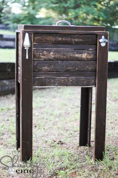 Barn Wood Cooler Console Table / Ice Chest Sideboard ...