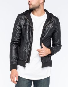 760eee64a23759 CHARLES AND A HALF Creepster Mens Jacket Faux Leather Jackets