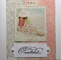 Greeting card. Papers: Maja Design Summer Crush. / Onnittelukortti Card Making, Greeting Cards, Stamp, Paper, Summer, How To Make, Handmade, Design, Decor