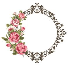 Pin de derm design em resources flower frame, frame e paper Flower Frame Png, Rose Frame, Png Floral, Molduras Vintage, Borders And Frames, Paper Frames, Decoupage Paper, Floral Border, Flower Backgrounds