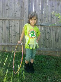 Galaxy Refashioned Dancing Bear Girls Grateful Dead Hippie festival Fringe Top, size youth small, OOAK, ready to ship, FREE gift wrap option by jamnjellybeans on Etsy