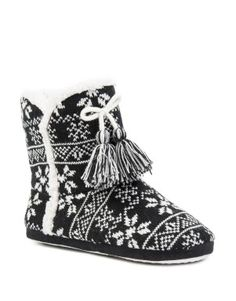Aztec Knit Boot Slippers
