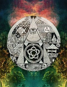 All Seeing Eye Third Eye Symbolism Sacred Geometry Psychedelic Art, Art Visionnaire, Psy Art, Occult Art, Visionary Art, Illuminati, Sacred Geometry, Third Eye, Magick