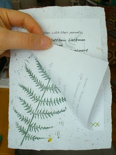 Pretty...Excellent eco-friendly invitation inspiration on the DIY tip | Offbeat Bride