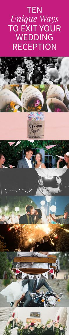 10 ideas for an amazing wedding exit! Click through to see the details!