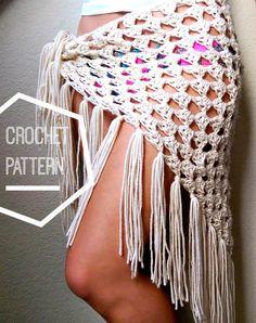 Crochet Boho Sarong Pattern Beginner Crochet Sarong por MYandGG