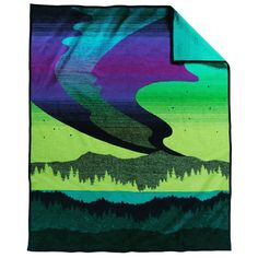 This USA-made wool blanket evokes the mysterious beauty of the Northern Lights, recreating the shining bands of transparent color that dance across the night skies. This bold, simple design is impressive as a wall hanging and wonderfully warm on a sofa or bed. Reverses for two different looks. The Shining, Wool Blanket, Night Skies, Night Light, Simple Designs, Nativity, Northern Lights, Mystery, Home And Garden