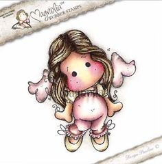 Magnolia Stamps - A Touch Of Love - Sweetness Angel Tilda now available at The Rubber Buggy