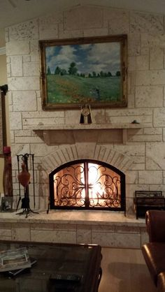 Fireplace Rock Ideas fireplace remodeling ideas | our coral stone and travertine panels
