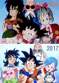 Goku and friends then and now Dragon Ball Z Shirt, Dragon Ball Image, Manga Anime, Anime Art, Akira, Manga Dragon, Inu Yasha, Candy Crush Saga, Animation