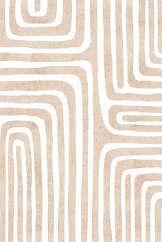 Neutral pink abstract geometric line art. | Wallpaper iphone boho, Boho wallpaper, Cute patterns wal