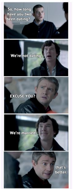 I can totally see Sherlock wrapped around John's little finger like this!
