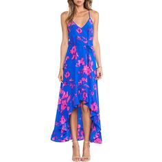 Bold, bright, with ruffled detailing | Karina Grimaldi X REVOLVE Romantic Maxi Dress #rankandstyle http://www.rankandstyle.com/top-10-list/best-garden-party-dresses/karina-grimaldi-x-revolve-romantic-maxi-dress/