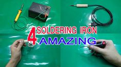 Life hacks - 4 Ways Amazing To Make A Soldering Iron simple At Home 1 - USB Soldering Iron Simple at home - i use USB cable, Adapter - port USB 5V -2A, chump...