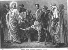 Alexandre Bida - Illustrations of the Life of Christ-A woman healed by touching the garment of Jesus