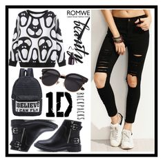 """""""Romwe 3./2"""" by b-necka ❤ liked on Polyvore featuring romwe"""