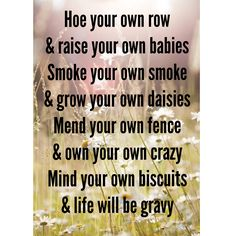 Kacey Musgraves is the best song writer! Mind your own biscuits and life will be gravy