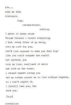 You... love quote sad heartbroken letter breakup love quotes