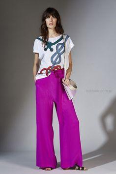 pantalon ancho palazzo azul francia Maria Cher primavera verano 2019 ... 349d3c0a8dc5