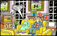 2014-03-26 express Celebrity Caricatures, British Royals, Knight, Cartoons, Royalty, Mac, Queen, Funny, Pink
