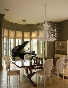 I have wanted a grand piano in a room with windows all around it like this since I was a little girl!