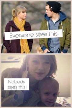 It's so true...& SO SO sad :'(( -- I know that she should get SO much more recognition for visiting with sick kids at a hospital in New York, but guys, she does it out of the goodness of her heart, & she really doesn't care if anyone knows she did it. All she cares about are those kids that she sees and talks to, and that means the world to her and the kids <3