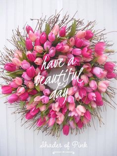 kintsugi~the Japanese art of repairing that which is broken with gold Door Wreaths, Tulip Wreath, Pink Wreath, Floral Wreath, Good Morning Beautiful Flowers, Pretty Flowers, Have A Beautiful Day, Beautiful Life, Fresh Flowers