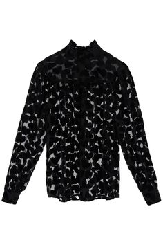 Ysl Heels, Saint Laurent, Covered Buttons, Chiffon, Saints, Fall Winter, Blouses, Long Sleeve, Sleeves