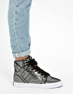 Supra Skytop Reflective Print High Top Sneaker