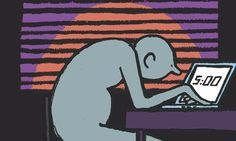 """""""Rise and shine: the daily routines of history's most creative minds"""" by Oliver Burkeman, an edited extract from Mason Currey's """"Daily Rituals"""" - illustration by Jean Jullien Favorite Subject, Writing Inspiration, The Guardian, Illustration Art, At Least, Mindfulness, History, Drawings, Daily Routines"""