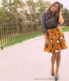 Polka dots and leopard print mixed together in an outfit.