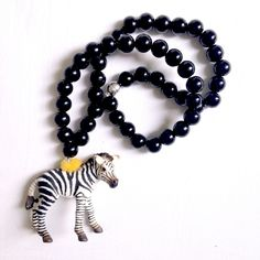 Pirates & Ponies Zebra Necklace