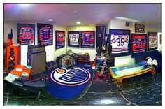 System of a Down's man cave - Oilers theme!