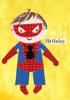 £2.99 | Paper Salad #Spiderman #Kids #BirthdayCard #Collage