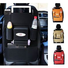 Favorable 5 Styles Leather Car Storage Bag Multi-compartment Car Seat Storage Container Outdoors Hanging Bag - NewChic Mobile.