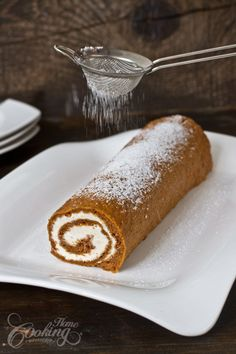 An easy recipe for a flavorful Easter cake - Carrot Cake Roll with Mascarpone filling.