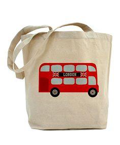 Tan London Double-Decker Bus Tote