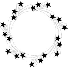 Border Stars ❤ liked on Polyvore featuring fillers, backgrounds, borders, circle, drawings, circular, outline, picture frame and round
