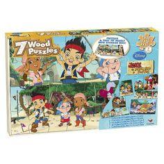 Disney Jake & the Neverland Pirates 7pk Wood Puzzle