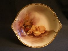 Limoges dish - hand painting of mixed nuts