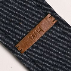 Love the interior details of this denim tie from White Horse Trading Co.