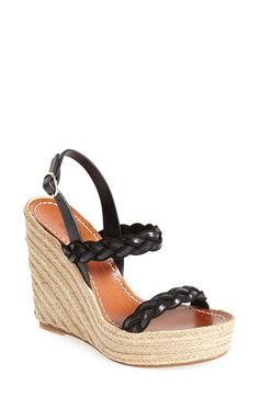 Valentino 'Twist' Espadrille Wedge Sandal (Women) available at #Nordstrom-- in brown/tan