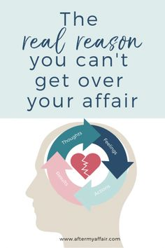 Are you wondering why you can't get over your affair? Start with your thinking. Learn how to use the Think-Feel-Act cycle to get over your affair and start living a life you love. Cant Get Over You, Get Over It, Cheating Quotes Caught, Affair Recovery, Emotional Affair, Lose Weight, Weight Loss, Relapse, Negative Emotions
