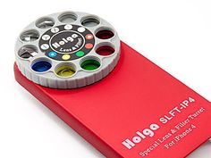 Holga iPhone cases with a dial of filters and lenses! Analog fun!