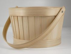 """for flower girl- line with silk and stuffing and add in petals     Quality Baskets at Discount Prices    6-1/2"""" Bamboo Basket with Handle $2.99     Regular price $5    Basket is 4"""" tall x 6.5"""" wide.   9"""" handle that swivels.   Comes with a plastic liner."""