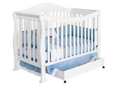 DaVinci Parker 4-in-1 Convertible Crib with Toddler Rail. Check this #white #crib out.