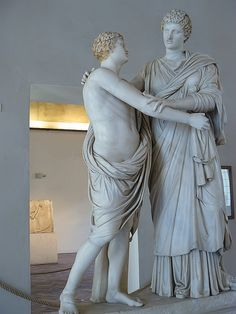 Orestes and Elektra by Menelaus after Praxiteles marble 1st century CE