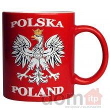 Polish Mug - Polska - Poland - Polish White Eagle. Kubek - Polska - Orzel Bialy. 12oz. Made in Poland.