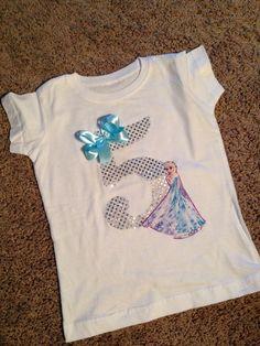 FROZEN inspired birthday shirt. Frozen by Classyritzybabies, $22.00